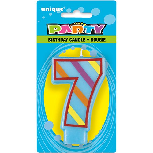 Unique Industries Decorative Numeral Birthday Candle (7 Pack) - 1