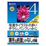 サンワサプライ インクジェット用両面印刷紙A4(薄手)大容量タイプ JP-ERV4NA4N-100