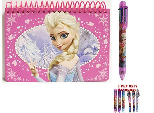 Disney Frozen Elsa The Queen Pink Spiral Autograph Book and 1 Pen - 1