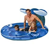 "Intex Inflatable Whale Spray Kiddie Pool 82""X62""X39"" For Kids Age 3+"