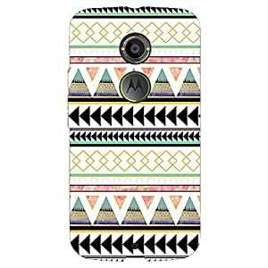 Jugaaduu Aztec Girly Tribal Back Cover Case For Moto X (2nd Gen)