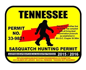 Tennessee sasquatch hunting permit license for Tn fishing license online