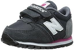 New Balance KE420I Running Shoe (Infant/Toddler), Grey/Pink, 2 W US Infant