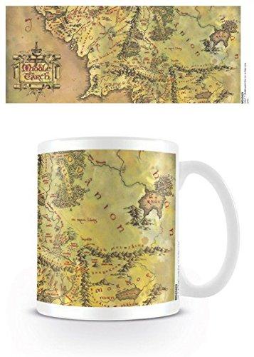 Il Signore Degli Anelli - Mappa Della Terra Di Mezzo Tazza Da Caffè Mug (9 x 8cm)