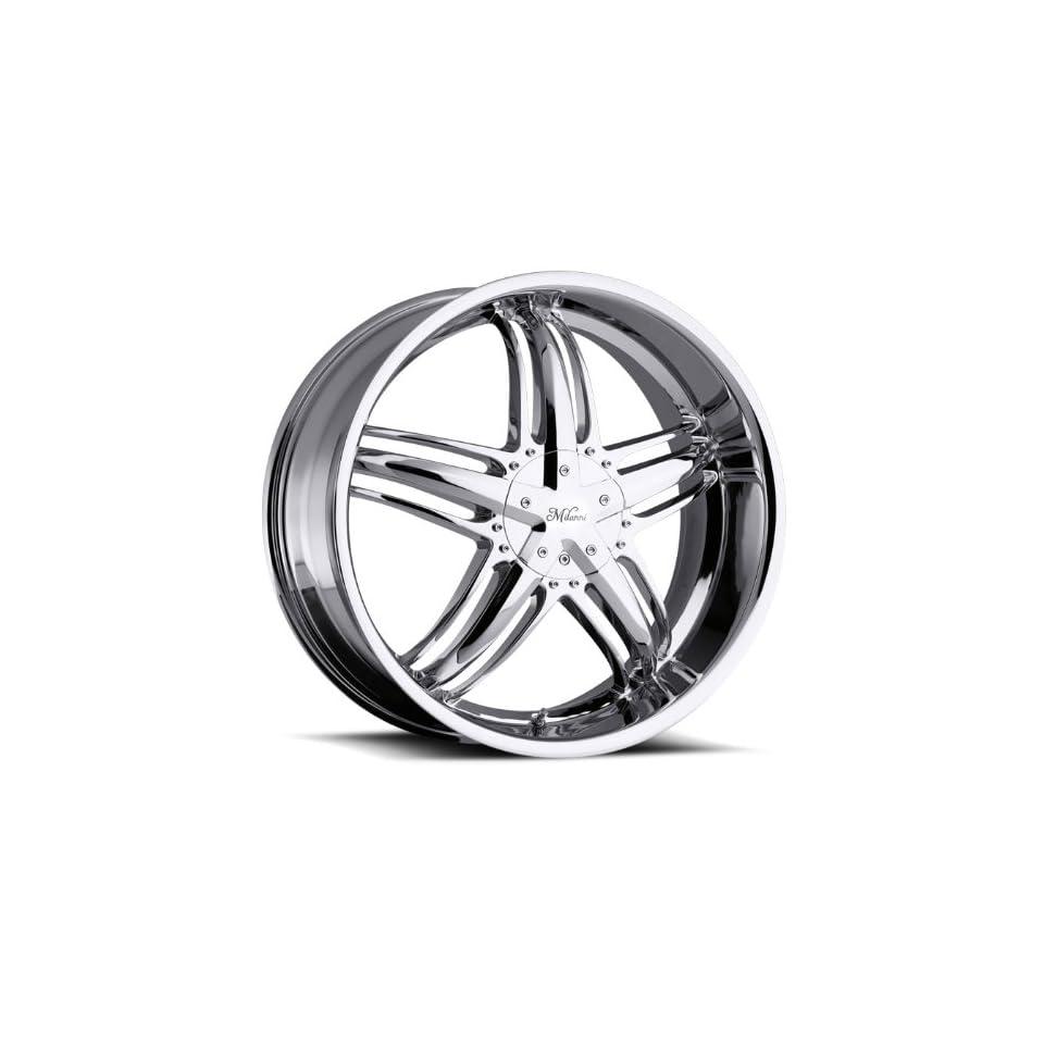 22x8.5 Milanni Force Chrome Wheel Rim 5x115 5x127 (5x5) +32mm Offset 74.1mm Hub Bore