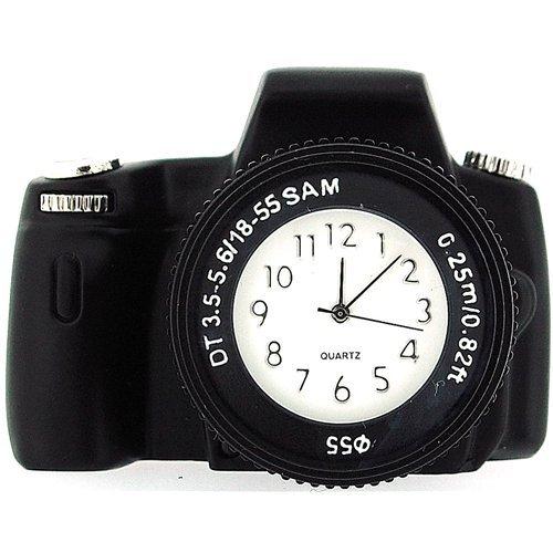 Reloj miniatura Negro De Escritorio Novedad Tecno Camara