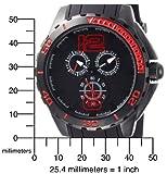 Marc Ecko Men's E14537G1 The Spirit Multi-Function Black Dial Watch