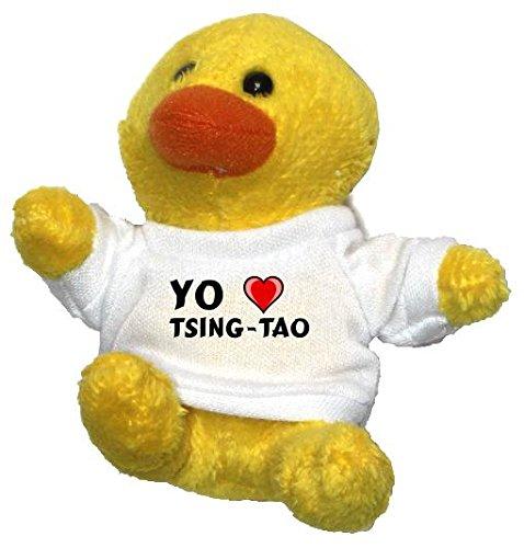 pollo-de-peluche-llavero-con-amo-tsing-tao-en-la-camiseta-nombre-de-pila-apellido-apodo