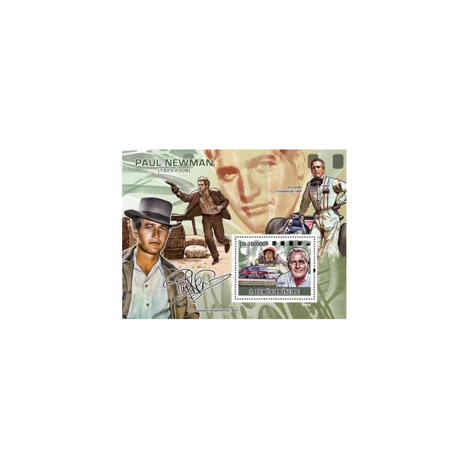 Paul Newman Butch Cassidy Collectible Postage Stamp 1956