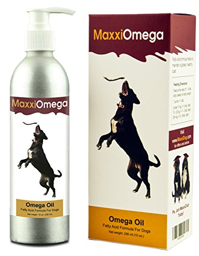 Omega Oil for Dogs - Healthy Skin, Shiny Coat, Boosts Joint Health - No Fishy Smell - Omega 3, 6 & 9, plus Vitamins A, D & E and Biotin - Liquid Canine Supplement with Easy To Use Pump - MaxxiOmega Advanced Fatty Acid Formula (Omega Oil For Dogs compare prices)