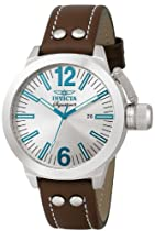 Invicta Mens Russian Diver Signature II Brown Leather Watch 7322 NEW