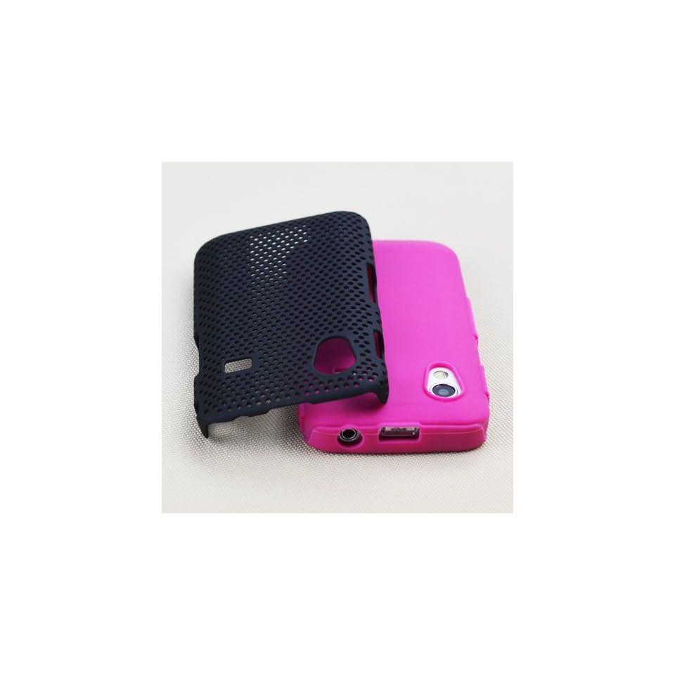 WalkNTalkOnline   Samsung S5830 Galaxy Ace Black & Pink & Gold Rose Handmade Crystal Gemstone Rhinestone Bling Diamante Protective Case + FREE SCREEN PROTECTOR/FILM/FOIL (3 LAYER TECHNOLOGY) & MICROFIBRE CLOTH