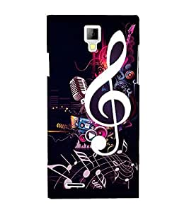 printtech Music Notes Back Case Cover for Micromax A99 Canvas Xpress