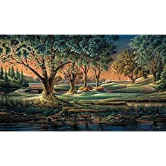 Terry Redlin Golf print-SPRING ON THE GREEN by Peck and Gartner