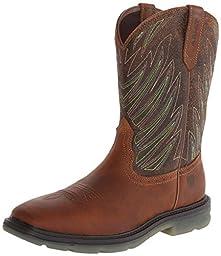 Ariat Men\'s Maverick Wide Square Toe Work Boot, Desert/Brown, 12 M US
