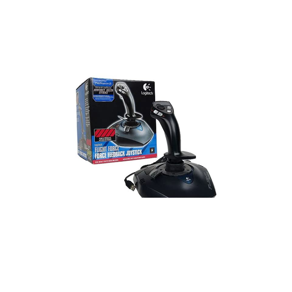 bfd70340e7c (FOR PS2 FLIGHT FORCE GAME ONLY) Logitech Flight Force Joystick for Playstation  2
