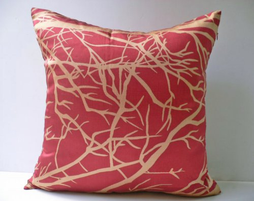 Inexpensive Modern Pillows : Decorative Modern Orangered Throw Pillow Cover ~ buy cheap pillows decorative