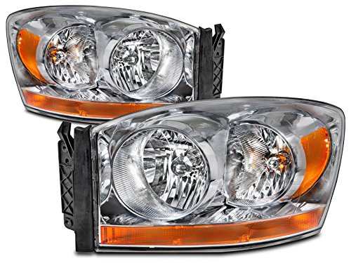Dodge Ram 1500 2500 3500 Pickup Headlights Headlamps Driver/Passenger Pair New (2006 Dodge 2500 Headlight Cover compare prices)