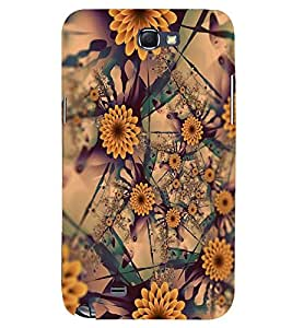 PRINTSWAG FLOWERS PATTERN Designer Back Cover Case for SAMSUNG GALAXY NOTE 2