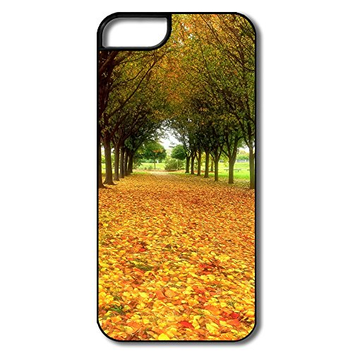Nice Bumper Road Covered Autumn Leaves Iphone 5S Skin