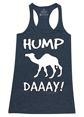 Shop4Ever® Camel Commercial Hump Day! Women's Racerback Tank Top Funny Tank Tops Medium Navy 0