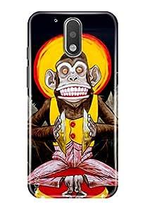 Noise Designer Printed Case / Cover for Motorola Moto G, 4th Gen / Animated Cartoons / Terrifying Monkey Design