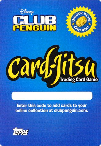 Disney Club Penguin Online Code Redemption Card (Gets You 4 Virtual Trading Cards!)