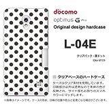 docomo Optimus G Pro L-04E ケース Optimus G Pro L-04E カバー ケース・ジャケット【クリアバック・黒ドット/l04e-M109】