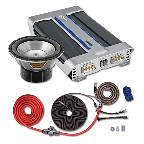 """Infinity 1060W Reference Series 10"""" 4-Ohm Subwoofer+Infinity Reference 1600A Mono Subwoofer Amplifier 600 Watts Rms X 1 At 2 Ohms+Rockford Fosgate Rfk4I 4 Awg Power & Signal Installation Kit"""
