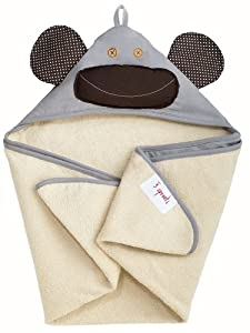 3 Sprouts - Capa de baño - Mono Amarillo en BebeHogar.com