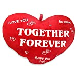 Archies Soft Toy Together forever Heart Cushion, Multi Color