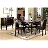 5pc Solid Wood Cherry Finish Dining Set , Table w/ 4 Chairs