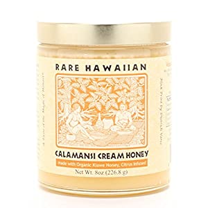 Rare Hawaiian Organic Calamansi Cream Honey, 8 Ounce