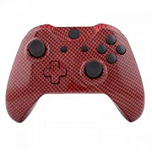 buy Mod Freakz Xbox One Controller Shell/Buttons Red Black Carbon Fiber (No 3.5 Port)