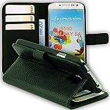 ABZ-S Ledertasche für Samsung Galaxy S4 mit Stand-Funktion - schwarz