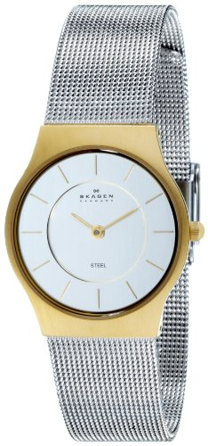 Skagen Women's Two-Tone Mesh Bracelet Watch 233SGS