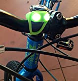 Micro LED Bike Light - No Tool Install - Only 0.4 Ounces - Lightning Frog Bike Light by Huggabe is Best Accessory For Kids Of Any Age!