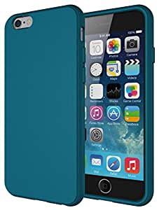 iPhone 6S case, Diztronic USA Full Matte Teal Flexible TPU Case for Apple iPhone 6 - Retail Packaging - Matte Teal Blue