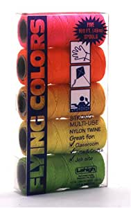 Lehigh Secure Line NSTPKCC Flying Colors Twisted Twine, 18-by-160-Foot,  5-Piece
