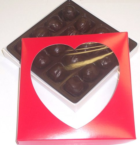 Scott's Cakes Chocolate Walnut Fudge Truffles 1 lb. Heart Box