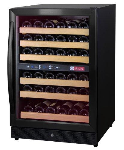 Allavino Mwr-542-Br 51 Bottle Dual Zone Wine Cellar Refrigerator - Black Door