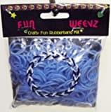 Fun Weevz Loom Bands Rubberband Kit-Light Blue