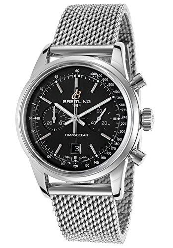 breitling-de-hombre-transocean-automatica-reloj-cronografo-de-acero-esfera-de-color-negro