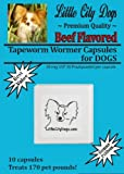 Little City Dogs BEEF FLAVORED Praziquantel Tapeworm Wormer Capsules for Dogs (10 Capsules)