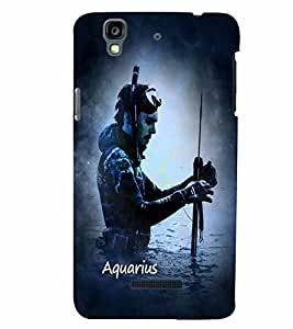 PrintVisa Zodiac Aquarius Aquarian 3D Hard Polycarbonate Designer Back Case Cover for YU Yurekha