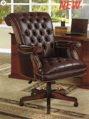 Coaster Traditional Executive Leather Office 