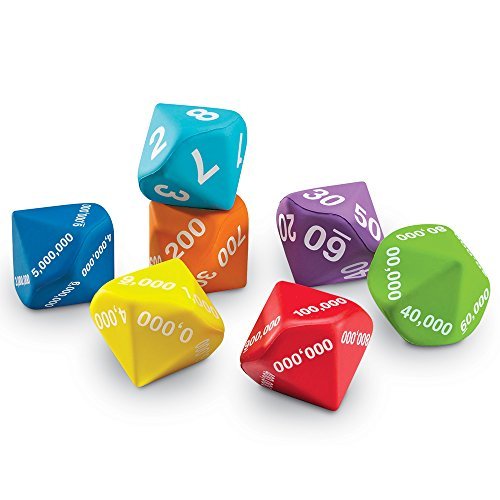 Learning Resources Foam Place Value Dice