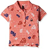 #10: United Colors of Benetton Baby Girls' Polo (16A3089C0153I9010Y_Orange and Multicolor_0Y)