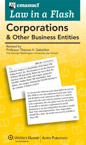 Law in a Flash: Corporations PDF