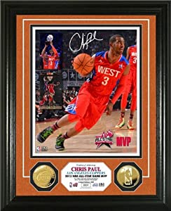Chris Paul Framed Los Angeles Clippers 2013 NBA ASG MVP Gold Coin Photo Mint by Hall of Fame Memorabilia
